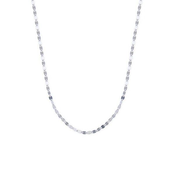 K18ホワイトゴールドネックレス ホワイトゴールド ネックレス【40cm】