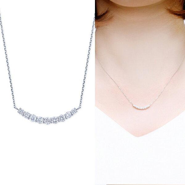 ポイント10倍 〜6/21(木)1:59までプラチナダイヤモンドネックレス ダイヤモンド ネックレス【合計0.3カラット】