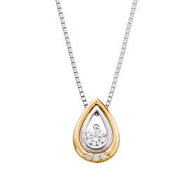 【SALE】 プラチナ/K18イエローゴールドダイヤモンドネックレス