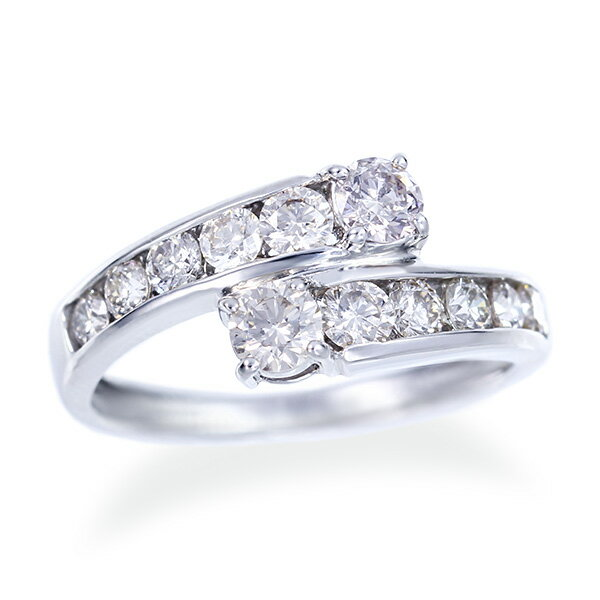 ポイント10倍 〜6/21(木)1:59までプラチナダイヤモンドリング ダイヤモンド リング