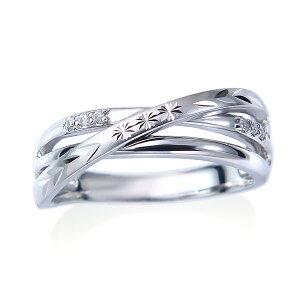 【DEAL】K10ホワイトゴールドダイヤモンドリング