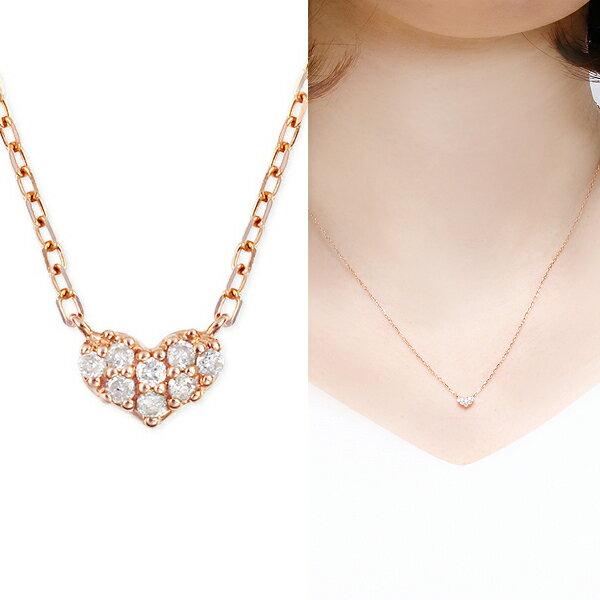 ピンクゴールドダイヤモンドネックレス ダイヤモンド ネックレス
