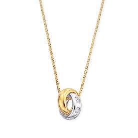 プラチナ/K18イエローゴールドダイヤモンドネックレス