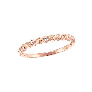 K10ピンクゴールドダイヤモンドリング
