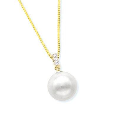 K18イエローゴールドアコヤ真珠ネックレス(8mm)