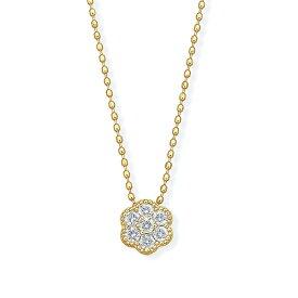【SALE】 K18イエローゴールド鑑別書付ダイヤモンドネックレス
