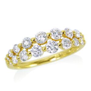 ポイント10倍 〜3/8(木)1:59までK18ダイヤモンドリング ダイヤモンド リング【合計1カラット】