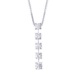 K18ホワイトゴールド/K14ホワイトゴールドダイヤモンドネックレス