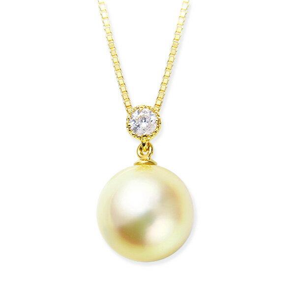 K18パール・ダイヤモンドネックレス ダイヤモンド ネックレス【アコヤ真珠】