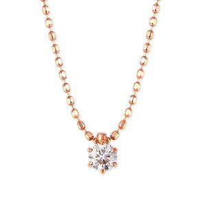K14ピンクゴールドダイヤモンドネックレス