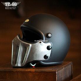 マッドマッスクJ02 ローマン アルミ ラスティー マスク付 ジェットヘルメット SG/PSC規格品