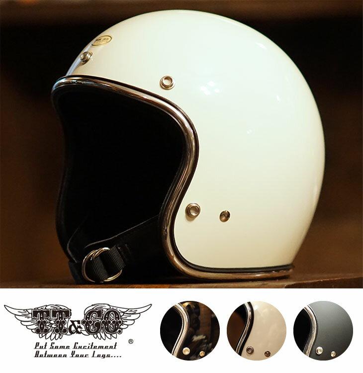 スーパーマグナム クローム トリム スモールジェットヘルメット 乗車用 SG/PSC/DOT規格品