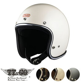 TT&CO. スーパーマグナム クロームトリム スモールジェットヘルメット ビンテージ ジェットヘルメット SG/PSC/DOT M/Lサイズ57-58cm レトロ オープンフェイス