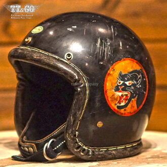 TT &CO. SUPER MAGNUM DISTORTION SERIOUS VL PANTHER 3/4 OPEN FACE MOTORCYCLE HELMET JAPANESE / DOT STANDARD