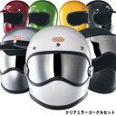TT&CO. トゥーカッター SG/DOT クリアミラー ゴーグルセット フルフェイスヘルメット ビンテージ フルフェイス SG/PSC…