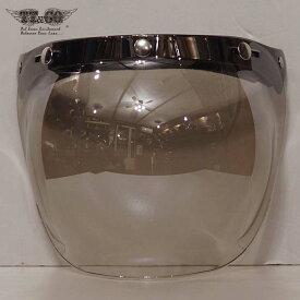 TT&CO. バブルシールド ライトスモーククリアミラー ジェットヘルメット スモールジェットヘルメット バイザー フルフェイス ビンテージ 夜間使用可能