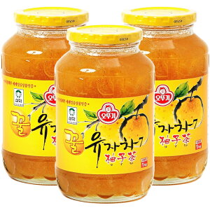 オトギ 蜂蜜柚子茶 1kg×3本 (まとめ買い得) 果肉入り