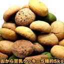 【送料無料】豆乳おからクッキー5種類 5kg