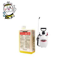 ゴキブリ駆除 殺虫剤 エクスミン乳剤SES(水性) 1L 4L噴霧器セット