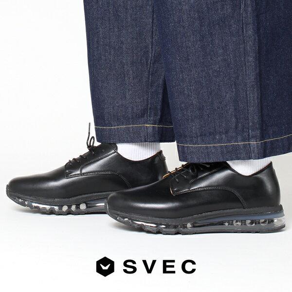 カジュアルシューズ メンズ スニーカー オックスフォードスニーカー メンズ 革靴 カジュアル 靴 おしゃれ 黒 ブラック 靴 svec シュベック メンズシューズ 男性用 紳士靴 初売り 2019 冬 春 新春