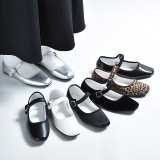 パンプス痛くないローヒールぺたんこストラップ黒ブラックベージュおしゃれ歩きやすいレディースフラットシューズフラットパンプスカンフーシューズチャイナシューズバレエシューズレオパードヒョウ柄シルバーブラウン茶色靴シューズ2021冬秋冬春