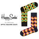 ハッピーソックス 靴下 Happy Socks メンズ レディース ブランド ソックス おしゃれ カラフル カジュアル ビジネス ブラック 黒 ネイビー 紺 ギフト プレゼント 誕生日 総柄 OPTI