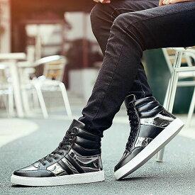 カジュアルシューズ メンズ スニーカー ハイアップ ローカット ハイカットスニーカー 革靴 皮靴 紐靴 ブラック 黒 ホワイト 白 男性用 紳士靴 くつ メンズシューズ おしゃれ 2019 夏 秋 冬