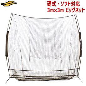 テニス練習用ネット 硬式・ソフトテニスボール対応 3m×3m ビッグネット 専用収納ケース付き 打撃 バッティング FBN-3030 フィールドフォース ラッピング不可