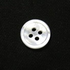 [メール便送料無料]白蝶貝ボタン 11.5mm[30個セット] 天然貝シャツボタン スーツボタン専門店のこだわりボタン【ゆうメール選択のみ送料無料・宅配便等は送料加算】