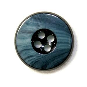【メール便送料無料】高級スーツジャケット用ボタン 818(COLOR.53ネイビー紺) 20mm[1個から販売]老舗テーラー御用達スーツボタン専門店の高級ボタン