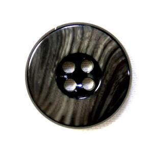 【メール便送料無料】高級スーツジャケット用ボタン 818(COLOR.95ダークグレー) 15mm 紳士服スーツジャケットの袖口・袖ボタンに[1個から販売]老舗テーラー御用達スーツボタン専門店の高級