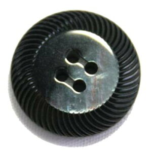 【メール便送料無料】高級スーツジャケット用ボタン アドーム イタリーボタン(COLOR.3ダークグレー系) 15mm紳士服スーツジャケットの袖口・袖ボタンに[1個から販売]老舗テーラー御用達ス