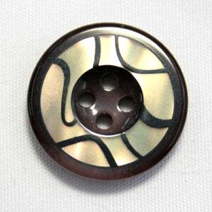 【メール便送料無料】高級スーツコート用ボタン BANFF(バンフ) 21mm COLOR.7(20mmの代用可能)[1個から販売]老舗テーラー御用達スーツボタン専門店の高級ボタン