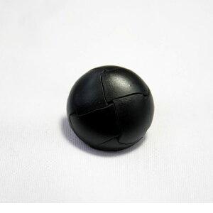 本革ボタンLZ-100 21mm (color.05ブラック) コート対応ボタン レザーボタン,皮ボタン[1個から販売]老舗テーラー御用達スーツボタン専門店の高級ボタン