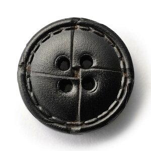 本革ボタンLZ-1500 25mm (color.05ブラック) コート対応ボタン レザーボタン,皮ボタン[1個から販売]老舗テーラー御用達スーツボタン専門店の高級ボタン