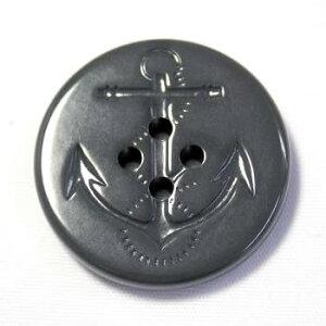 イカリボタン23mm グレー(ねずみ色) ピーコートなどのコート・ジャケットに(color.06)