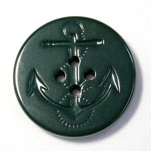 イカリボタン19mm 濃グリーン(濃いミドリ色)ピーコートなどのコート・ジャケットに(color.68)