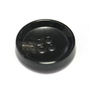 PV6 18mm (color.49 ブラック) コート対応ボタン[1個から販売]老舗テーラー御用達スーツボタン専門店の高級ボタン