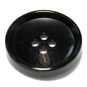 PV6 25mm (color.49 ブラック) コート対応ボタン[1個から販売]老舗テーラー御用達スーツボタン専門店の高級ボタン