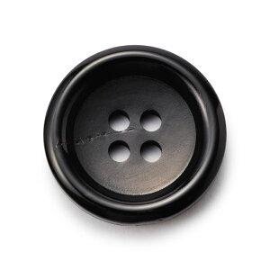 [メール便送料120円]水牛ボタンK-150(COLOR.5)黒30mm(T93990)老舗テーラー御用達スーツボタン専門店の高級ボタン