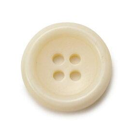 [メール便送料120円]水牛ボタンK-150(COLOR.W)ホワイト15mm(T93977)老舗テーラー御用達スーツボタン専門店の高級ボタン
