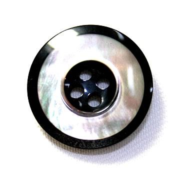 【メール便送料無料】高級スーツジャケット用ボタン H-4マザー(color.80) 17mm【ゆうメール選択のみ送料無料・宅配便は480円加算】