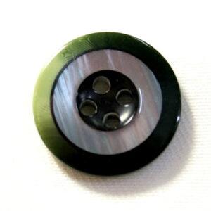 【メール便送料無料】高級スーツジャケット用ボタン ROCKY(COLOR.8グリーン緑系) 15mm紳士服スーツジャケットの袖口・袖ボタンに[1個から販売]老舗テーラー御用達スーツボタン専門店の高級ボ