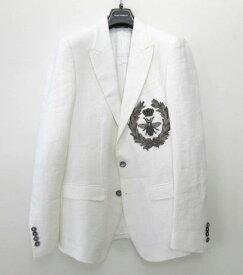 メンズ ドルチェ&ガッバーナ リネン ジャケット ホワイト 46