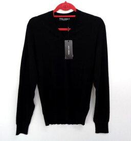 メンズ ドルチェ&ガッバーナ カシミア Vネック セーター ブラック 48