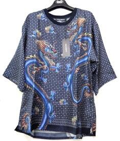 メンズ ドルチェ&ガッバーナ シルク Tシャツ マルチ 44