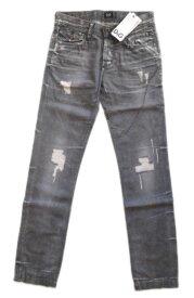 メンズ ドルチェ&ガッバーナ ストレート ダメージジーンズ R50709 グレー 28■