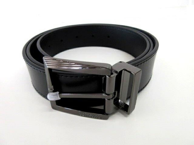 メンズ ヴェルサーチ レザー ベルト ブラック 44