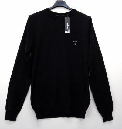 メンズ ディーゼル ワンポイント クルーネック セーター ブラック M