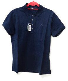 メンズ ディーゼル ワンポイント ポロシャツ ネイビー XL